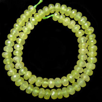 Prehnite Faceted 5x8mm Rondelle Beads