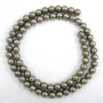 Pyrite 6mm Round Beads