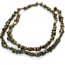 Pyrite Smooth Chip Beads