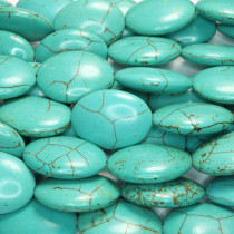 Reconstituted Turquoise 18x25mm Oval Beads