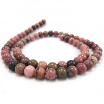 Rhodonite 6mm Round Beads