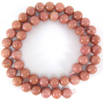 Rhodonite 8mm Round Beads