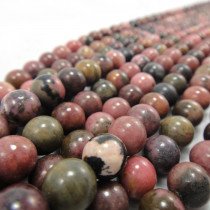 Rhodonite 8mm Round Bead