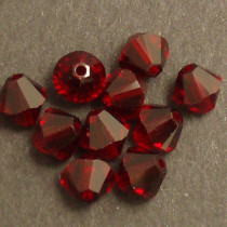 Swarovski® 4mm Ruby Bicone Xilion Cut Beads (Pack of 10)