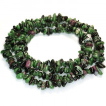 Ruby Zoisite Chip Beads
