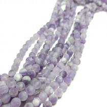 Sage Amethyst Matte/Frosted 6mm Round Beads