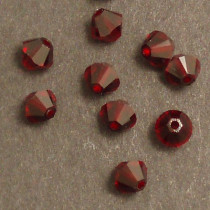 Swarovski® 4mm Siam Bicone Xilion Cut Beads (Pack of 10)