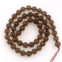Smoky Quartz 8mm Round Beads