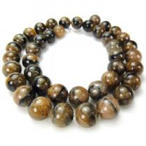 Staurolite 10mm Round Beads