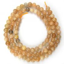 Sunstone 4mm Round Beads