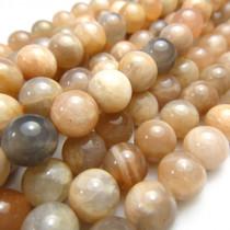 Sunstone 8mm Round Beads