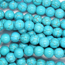 Synthetic Turquoise 10mm Round Beads