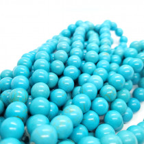 Synthetic Turquoise 12mm Round Beads