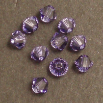 Swarovski® 4mm Tanzanite Bicone Xilion Cut Beads (Pack of 10)