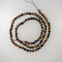 Tiger Eye 4mm Round Beads