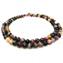 Multicolour Tourmaline 4mm Round Beads