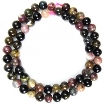 Multicolour Tourmaline 6mm Round Beads