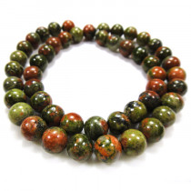 Unakite 8mm Round Beads