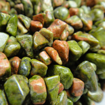 Unakite Chip Beads