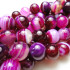 Fuchsia Agate 8mm Round Beads