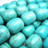 Reconstituted Turquoise Rounded Barrel Beads
